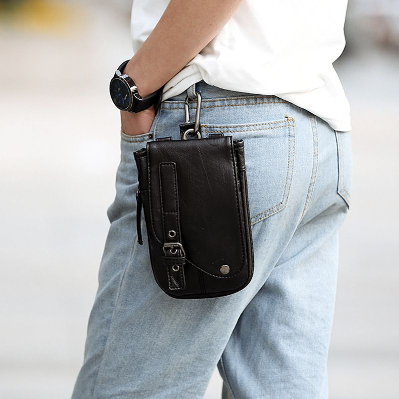 Vintage Leather Mini Bag Men Small Messenger Bag Clutch Fashion Crossbody  Shoulder Bag Purse Black Mens Wallet Leather Waist Bag 5393fe56937a8