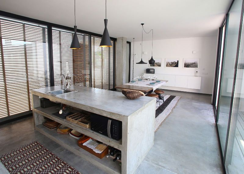 Go Beyond The Common Aesthetics With Concrete Kitchen Islands