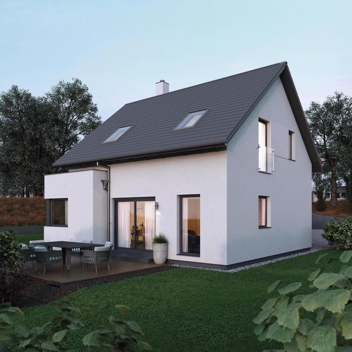 Kleines Satteldach Haus Modern Mit Erker Anbau Einfamilienhaus