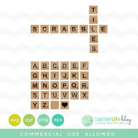 Download (Free SVG File) Scrabble Tiles | Svg free files, Scrabble ...