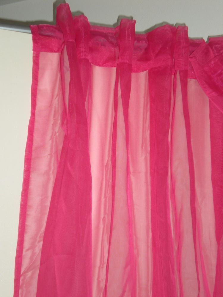Ikea Sarita Voile Curtains Panels Cerise//hot Pink 145 X 300cm 57 x 118in