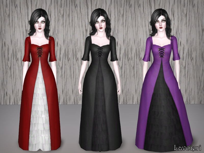 Hollow dress by Lavoieri  Found in TSR Category 'Sims 3 Downloads'