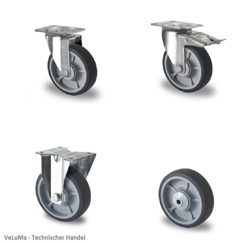 Transportrollen Polyamidrad 100 mm Rad Rolle Rollen Schwerlastrollen Lenkrollen