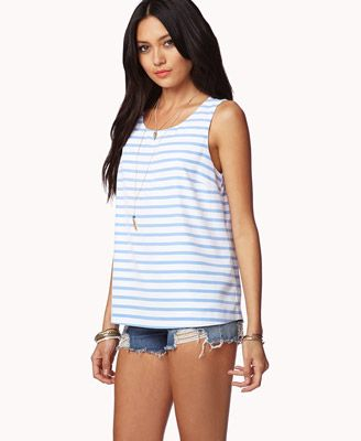 Essential Striped Top   FOREVER 21