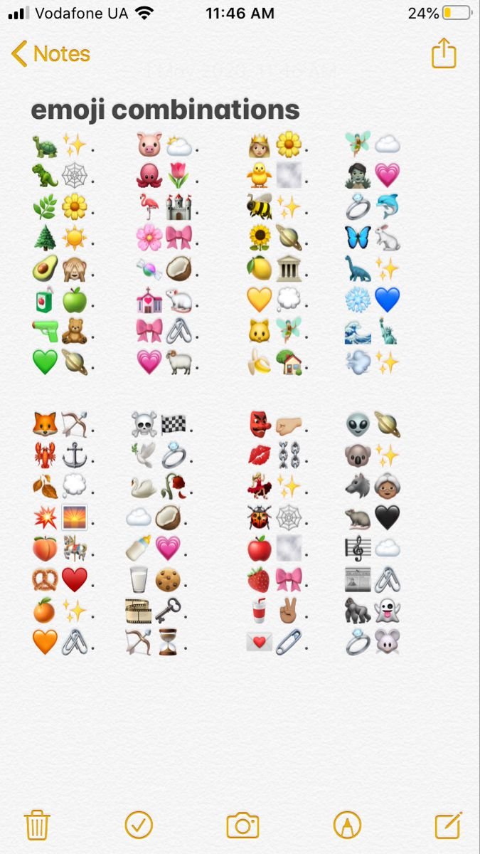 Notes Notes Iphone Emoji In 2020 Emoji Combinations Cute Emoji Combinations Instagram Emoji