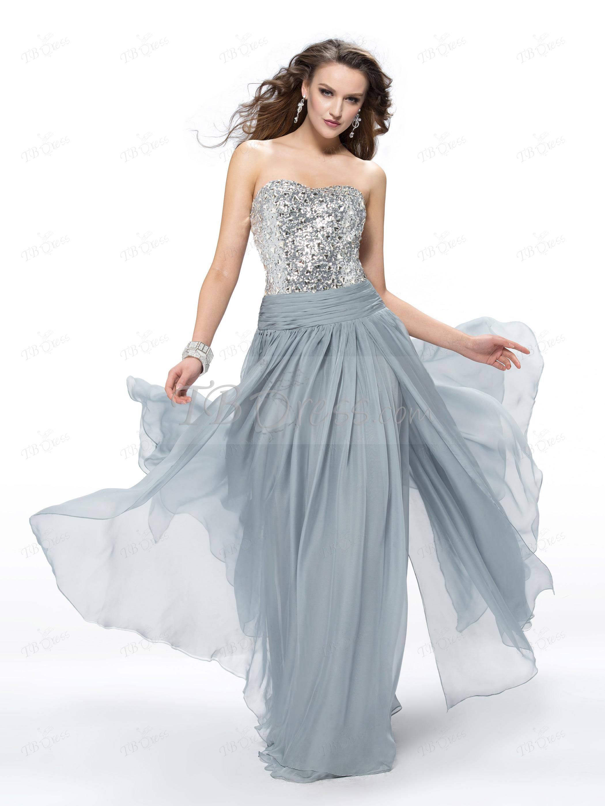 Aline sweetheart beading sequins prom dress designed independently