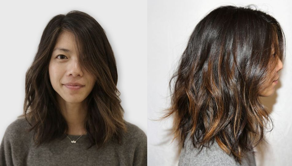 From Long To Short With A Dash Of Color Hair Pinterest Bobs