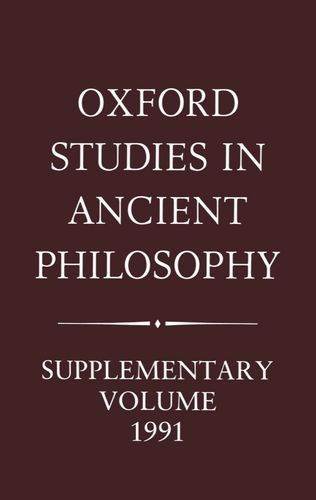 Download free Oxford Studies in Ancient Philosophy: Supplementary Volume 1991: Aristotle and the Later Tradition pdf