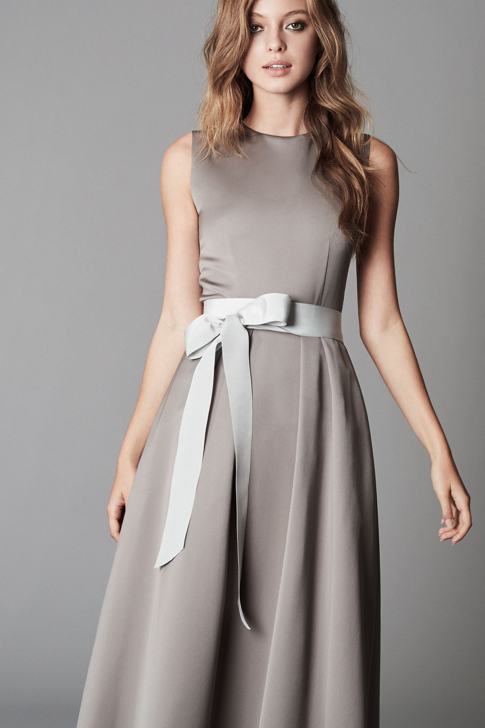 Ribbon belt - dress - anthrazit - bridesmaid dress - grey dress