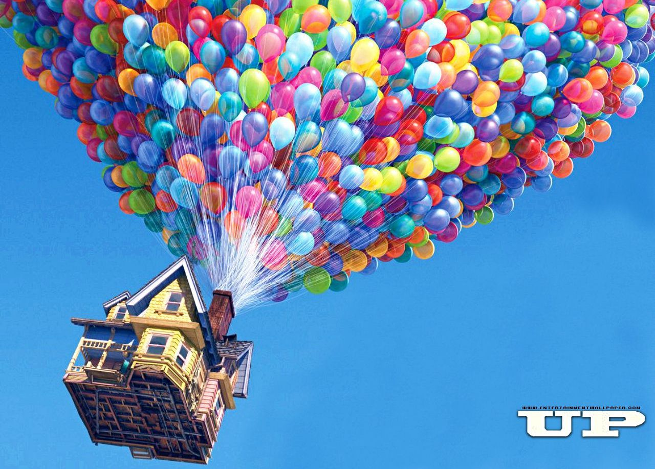 Up Pixar Casa E Palloncini Colorati Disney Up Palloncini Up Pixar