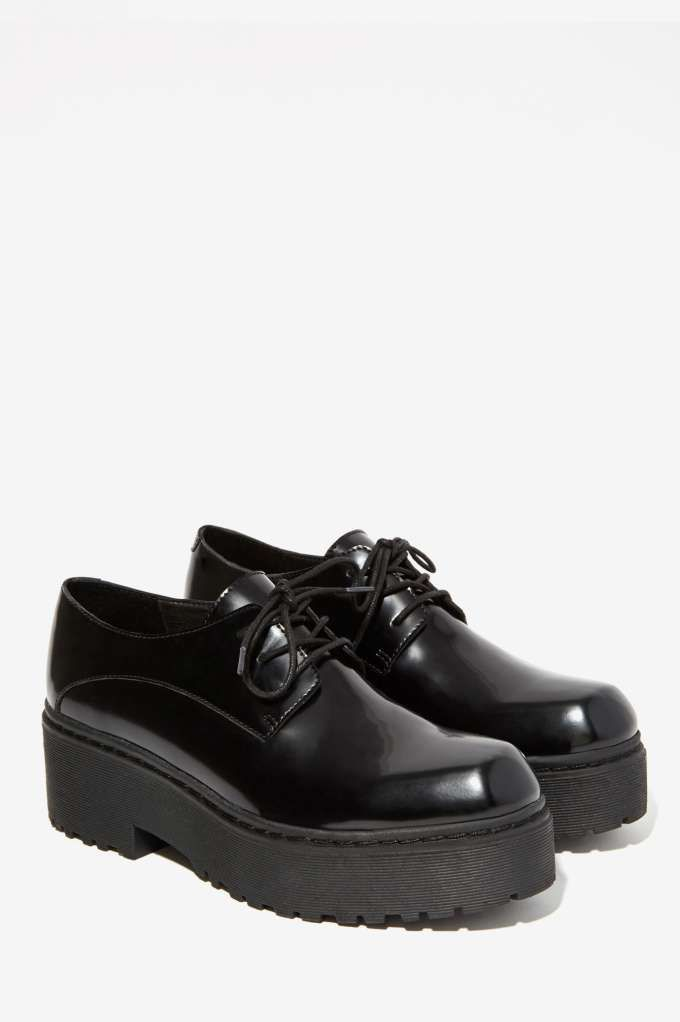 Jeffrey Campbell Cedric Leather Platform Shoe - Oxfords | Sneakers ...