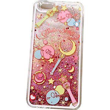 Sailor Moon Case for iPhone 7 Case Transparent Glitter Fundas for