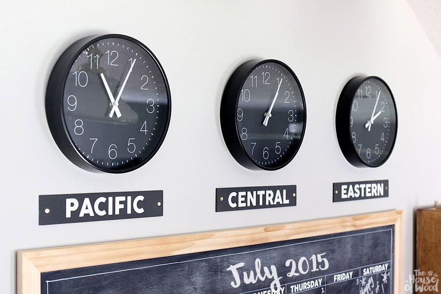 Diy Time Zone Clocks Time Zone Clocks Diy Wall Decor Clock