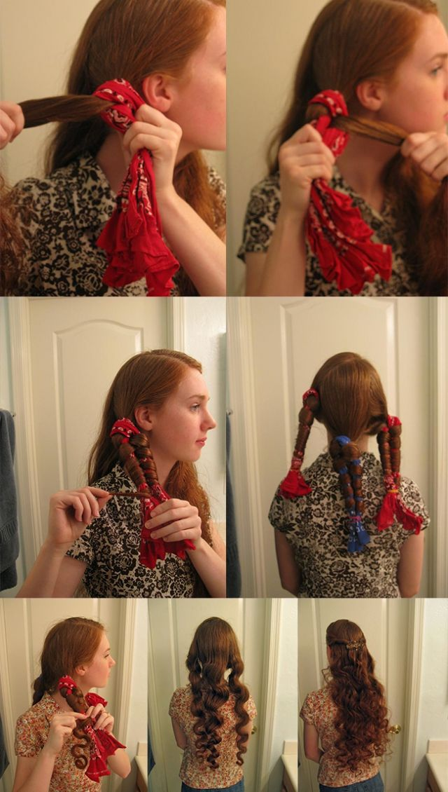 How To Get Curly Hair Without Heat Hair Pinterest