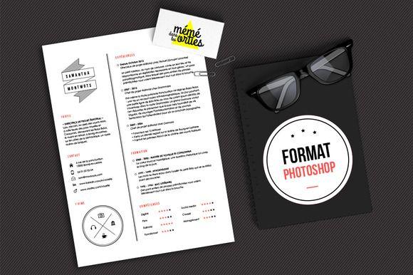 Montmots  Resume Template Photoshop ByGraphicsauthor  Resume Cv