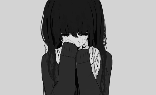 Discover ideas about sad anime girl girl black and white