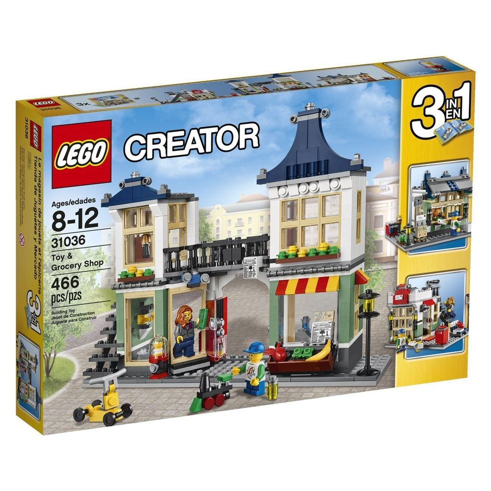 New Lego Creator Toy And Grocery Shop Toys 3 In 1 466 Pcs Free Shipping Girls Lego Lego Creator Sets Lego Creator Shop Lego