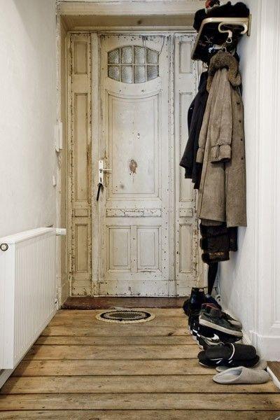 Wohnideen Flur Vintage wunderschöne alte haustür vintage look herzlich willkommen
