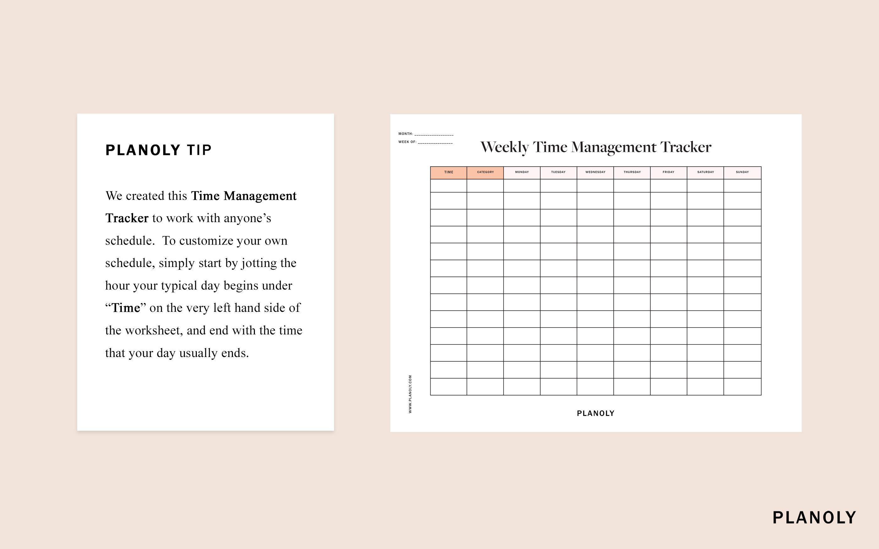 How To Manage Your Time Better Time Management Worksheet Time Management Skills Time Management Tips