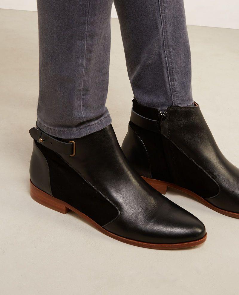 Low boots en cuir bi-matière   Mode   Pinterest 34f9361940b