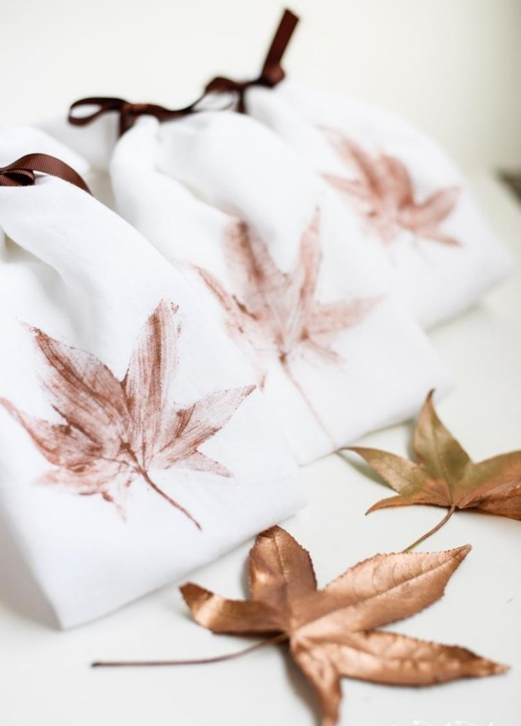 kreative Dekoration für thematische Stoffservietten oder andere - herbst deko ideen fur ihr zuhause