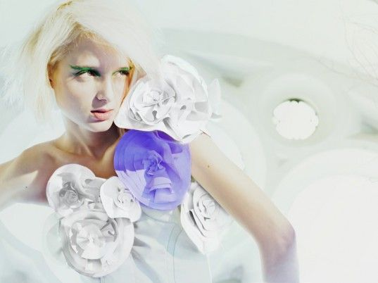 Wearable technology - a collection of interactive garments that change color in response to water, sunlight, or sound.