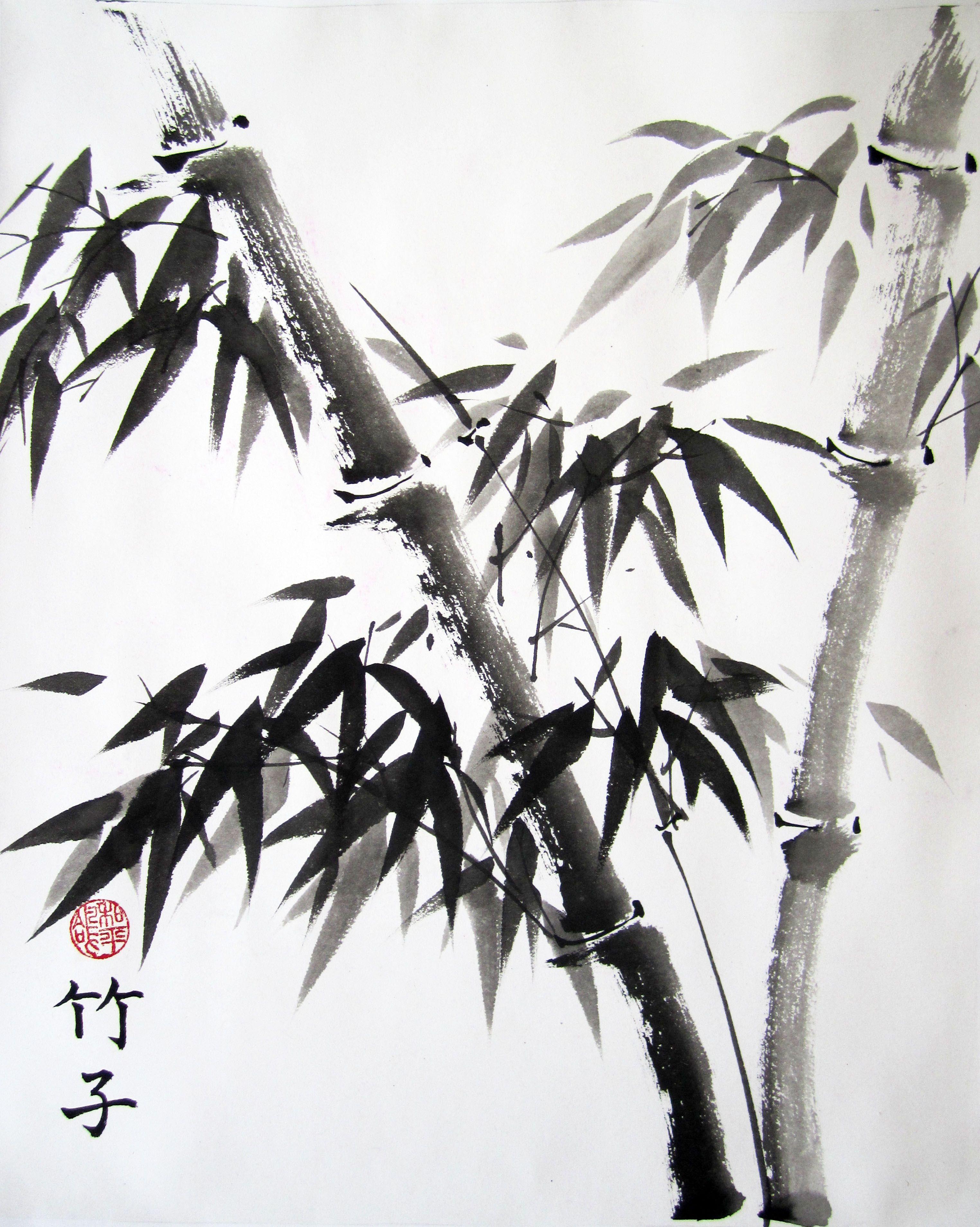 Картинки китайская живопись бамбук