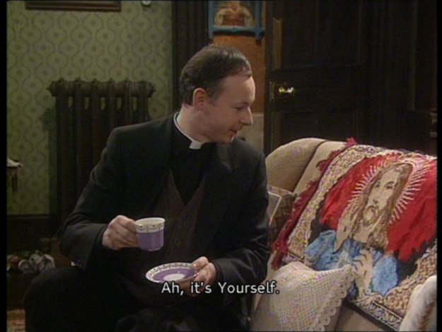 When the boring priest met Jesus    Whatever   Father ted
