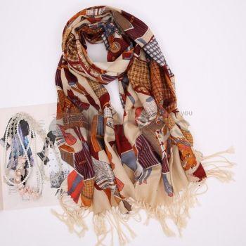 Wool Scarves-Ladies Long twill wool scarves