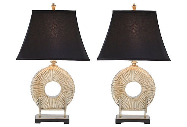 Cecily table lamp set 239 for two onekingslane com base polyresin shade