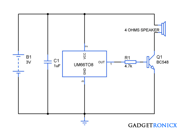 Melody Maker Circuit Diagram.Pin On Electronic Circuits