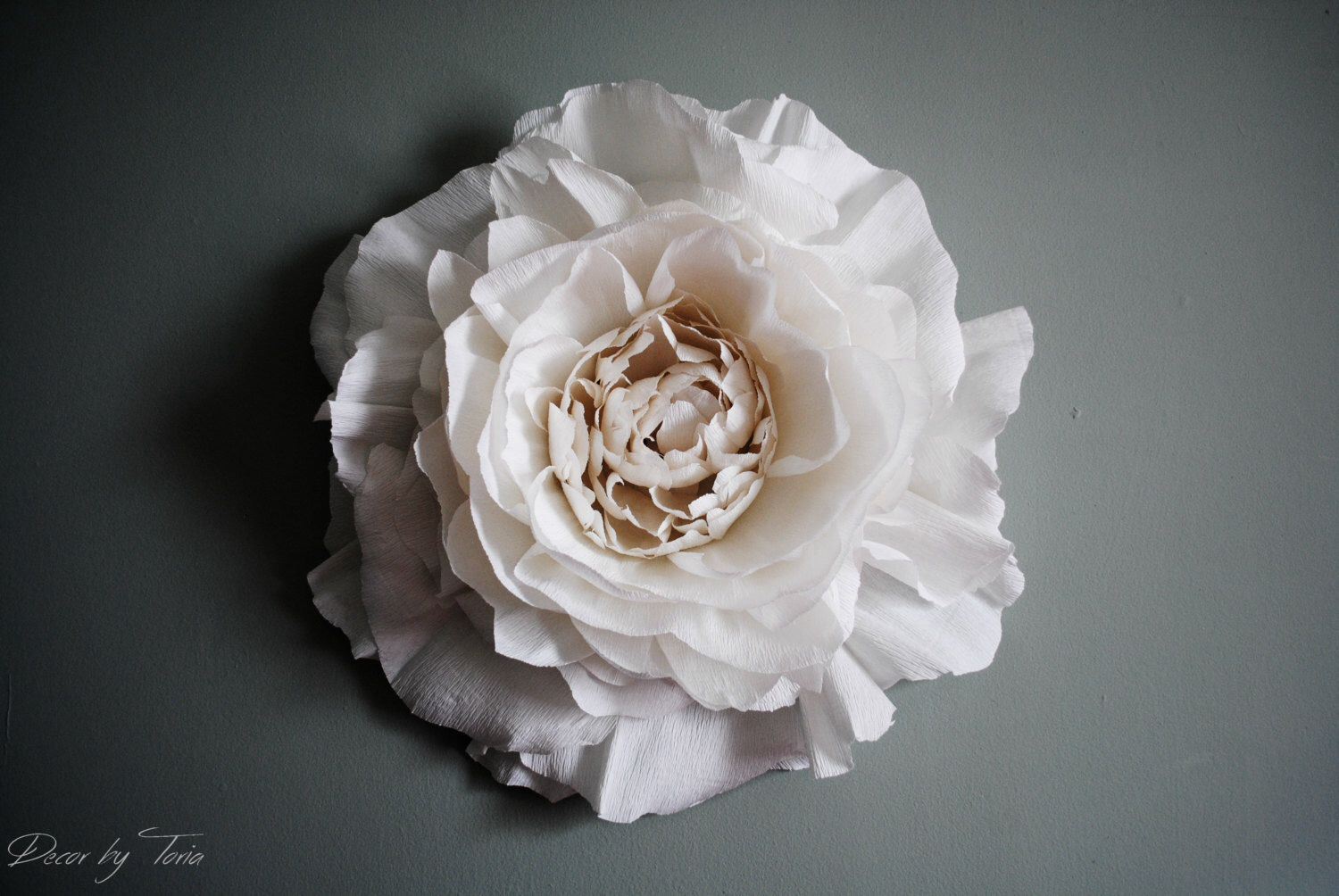 Paper wedding decoration ideas   Inch Giant Crepe Paper Peony Wall Flower Home Wedding Decor by