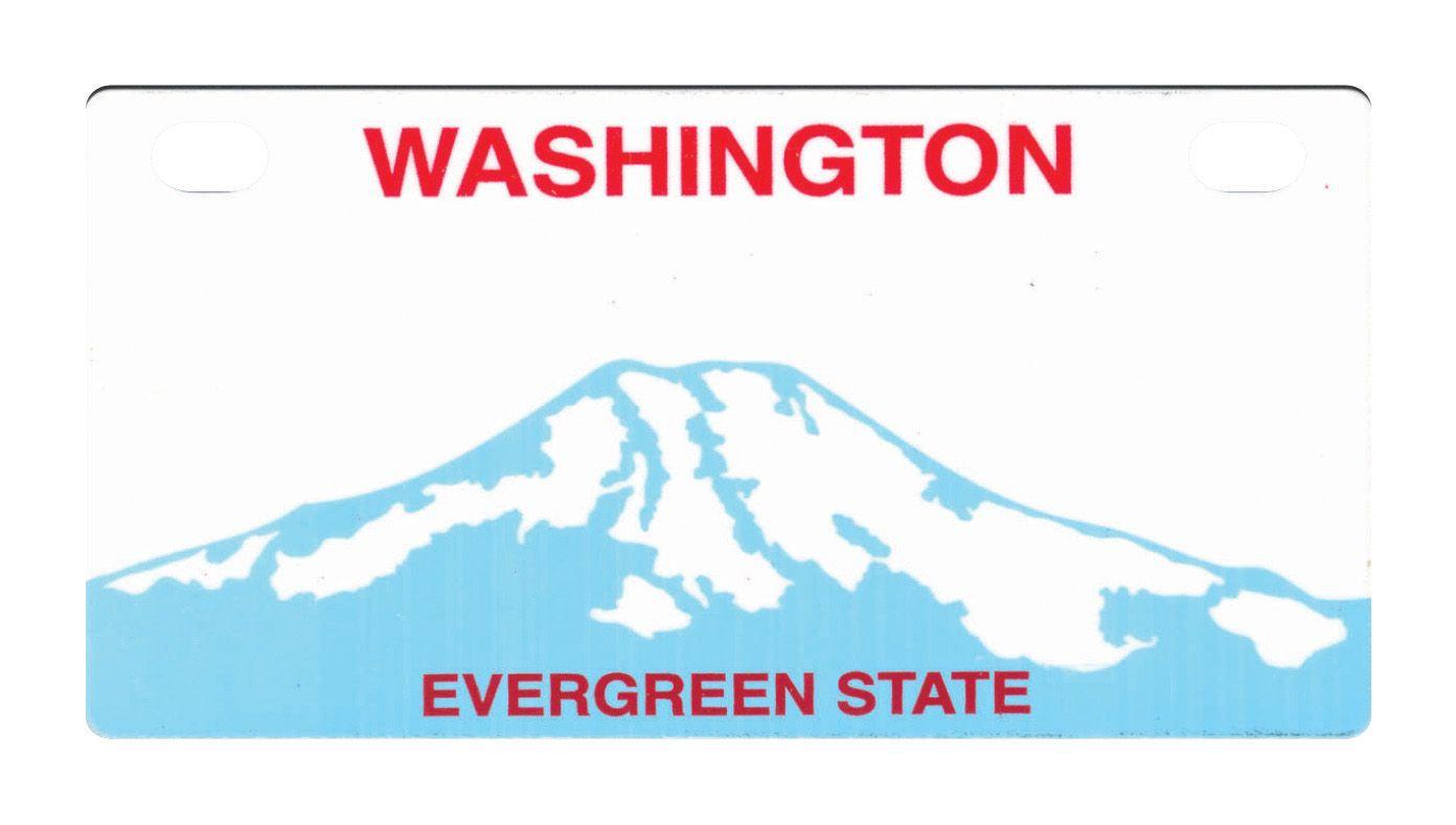 Washington State License Plates