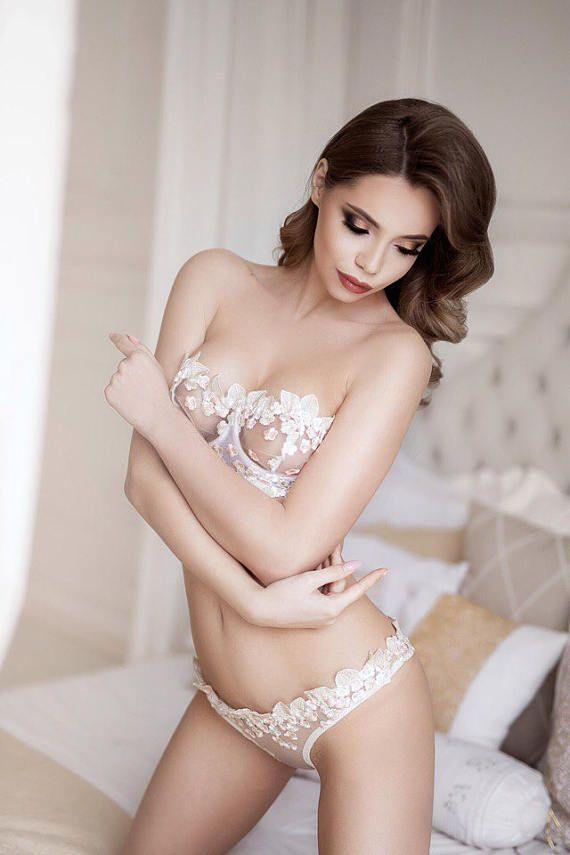 ec9ecb9a3beb Bridal Lingerie, Wedding Lingerie, White Lingerie Set, White Lace Lingerie,  Erotic Lingerie Set, Wom
