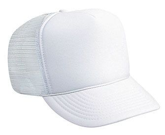 White Solid Blank Two Ply Washed Polo Style Cotton Low Crown Baseball Cap Hat