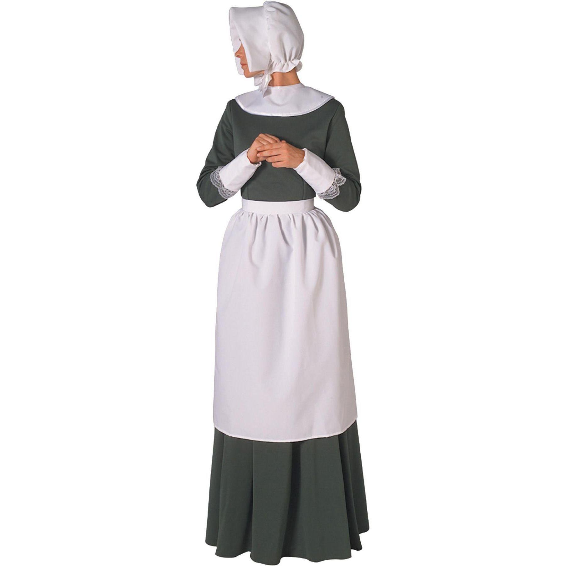 Brand New Instant Colonial Pilgrim Costume Kit Adult