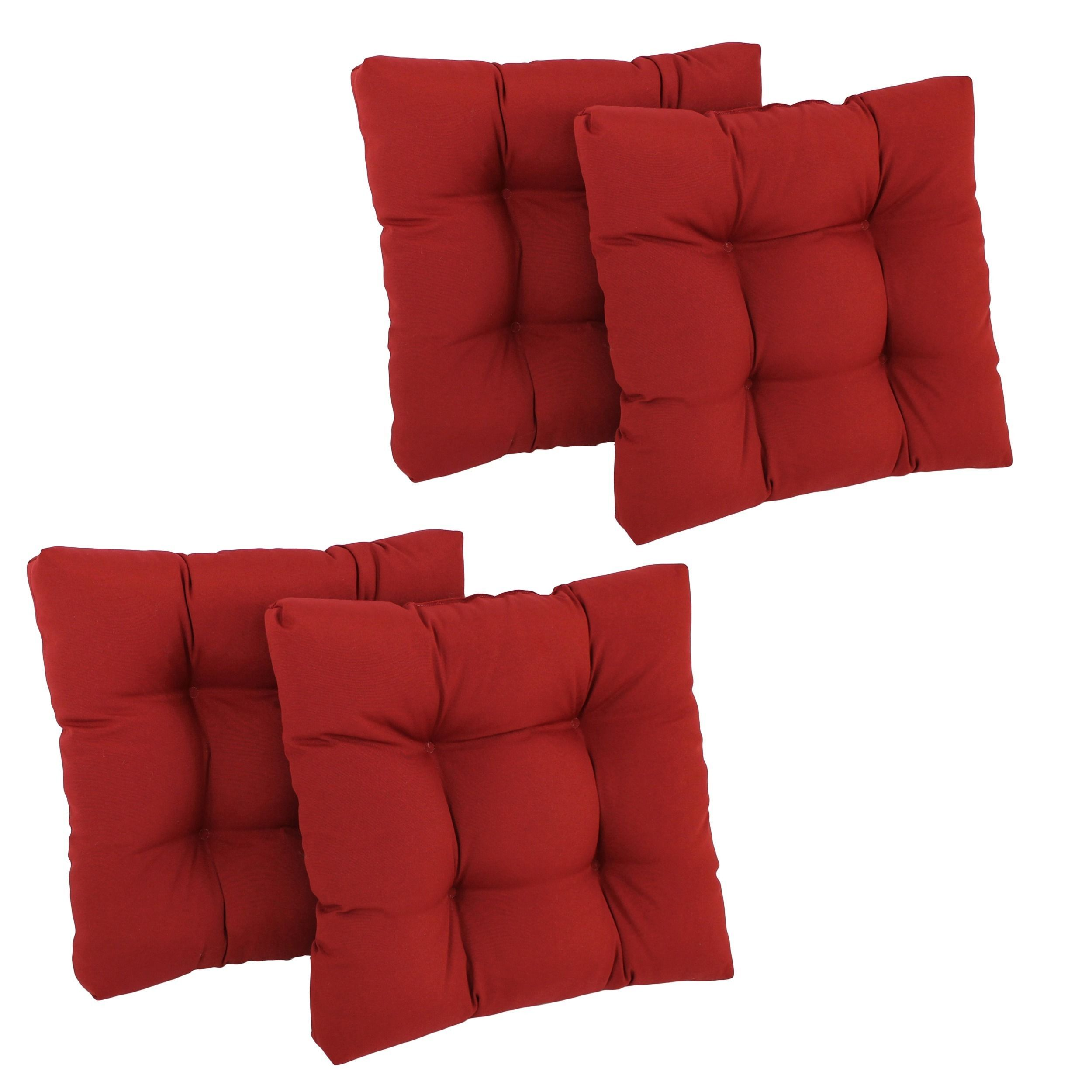 Blazing needles xinch tufted chair cushions set of ruby
