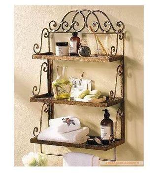 Hierro estante ba o de la planta pared toallero toallero estante de almacenamiento soporte de la - Toalleros de pared ...