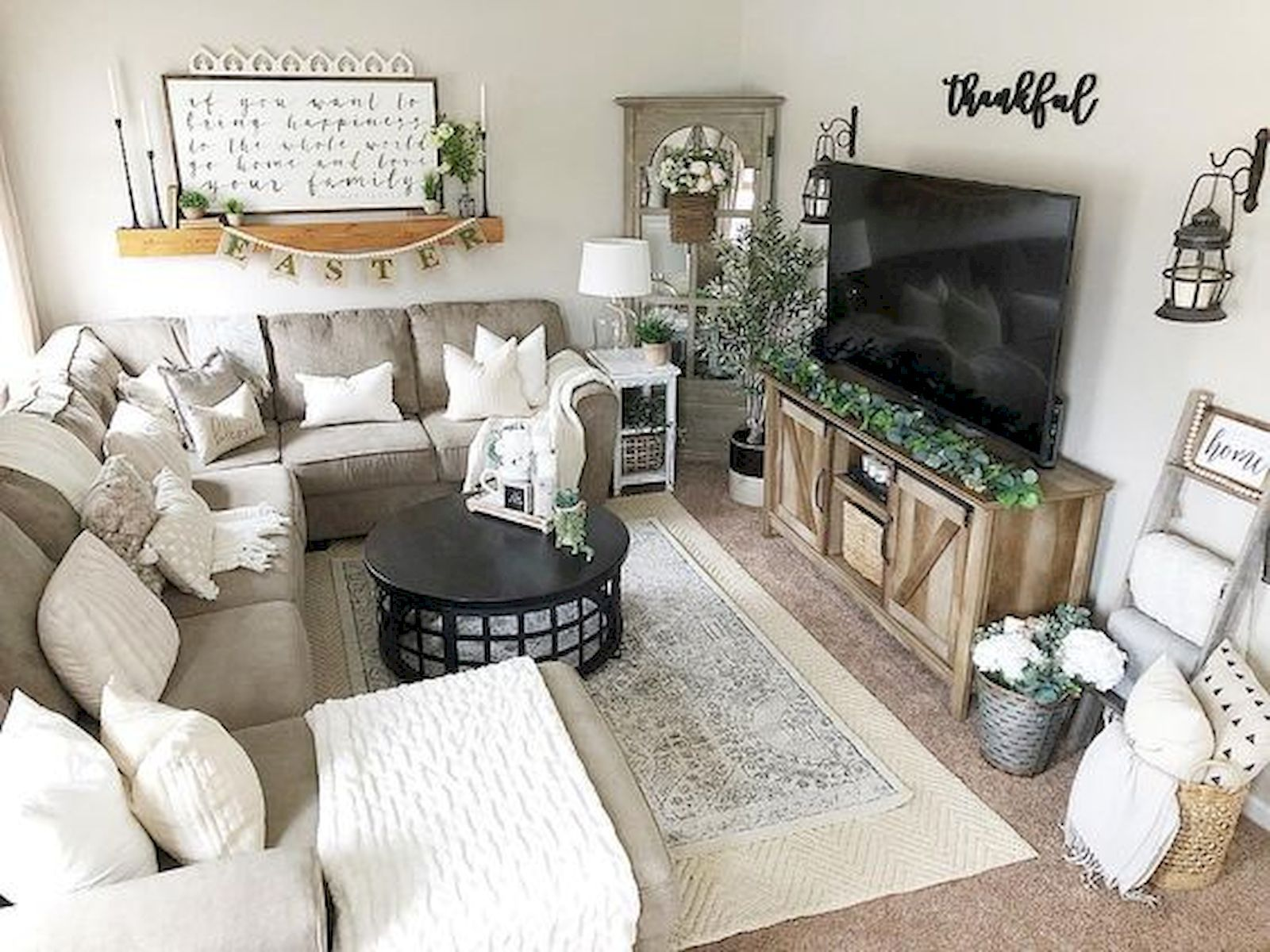 60 Beautiful Farmhouse Tv Stand Design Ideas And Decor Living Room Sectional Small Living Rooms Living Room Designs
