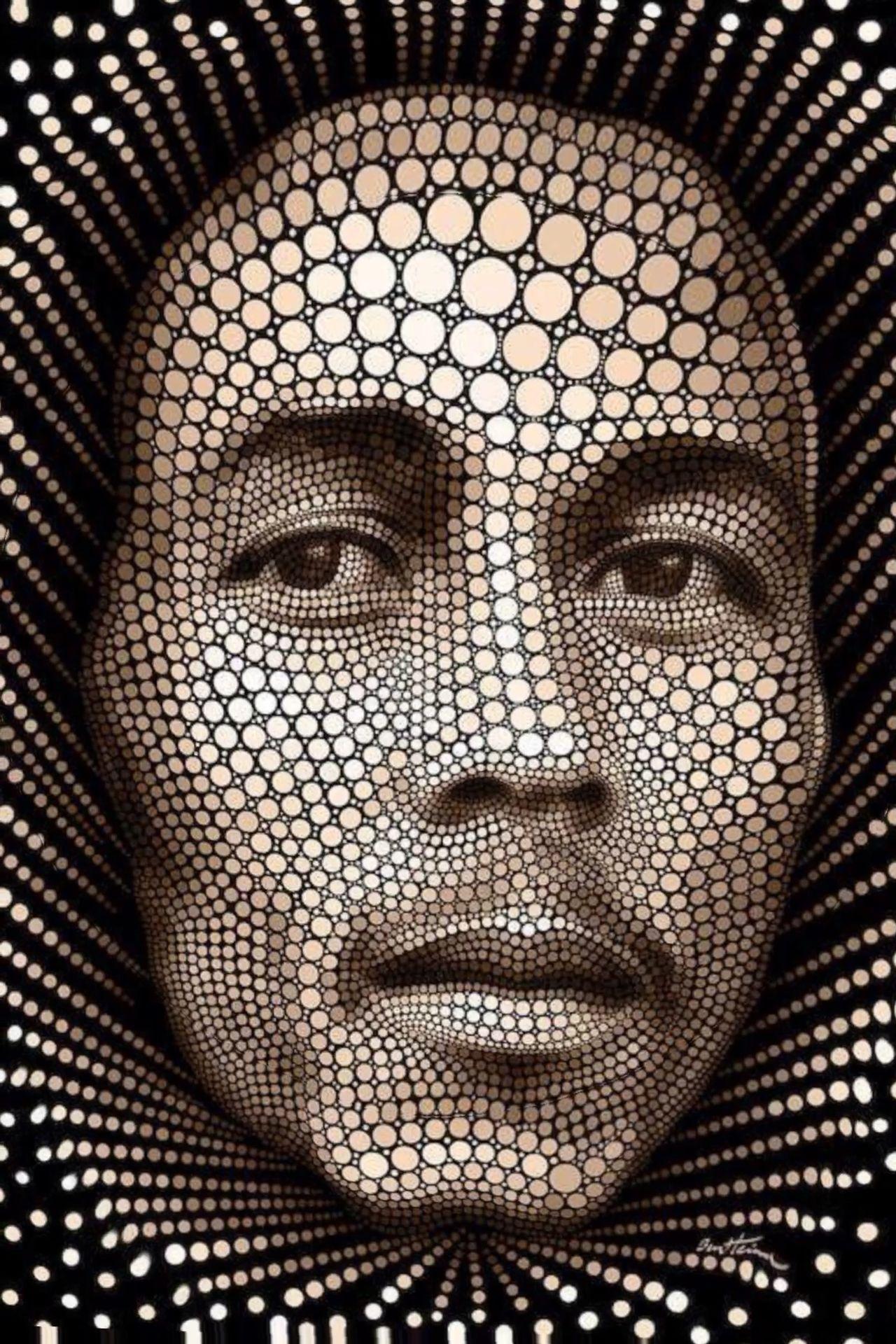 Bob Marley Digital Circlism