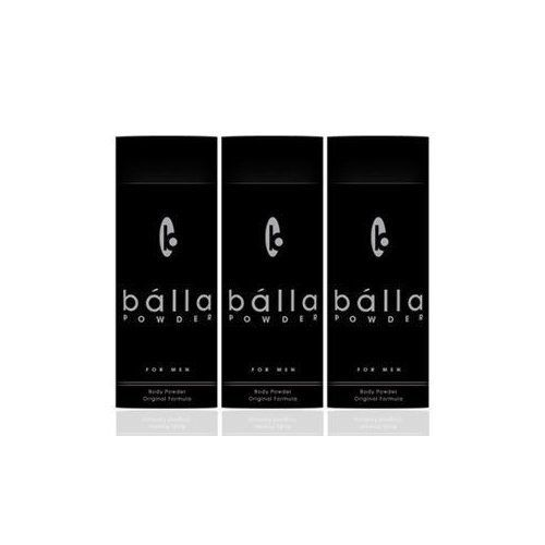 """Balla Powder Talc for Men - 3 Pack by Balla. $36.99. Body Powder Original Formula. The perfect blend of soothing essentials and natural fragrances that is guaranteed to leave both your boys and body feeling dry. Comfortable, and smelling great. Balla Powder will make clammy sacks a thing of the past and will put """"batwings"""" on the endangered species list, 3 pack."""