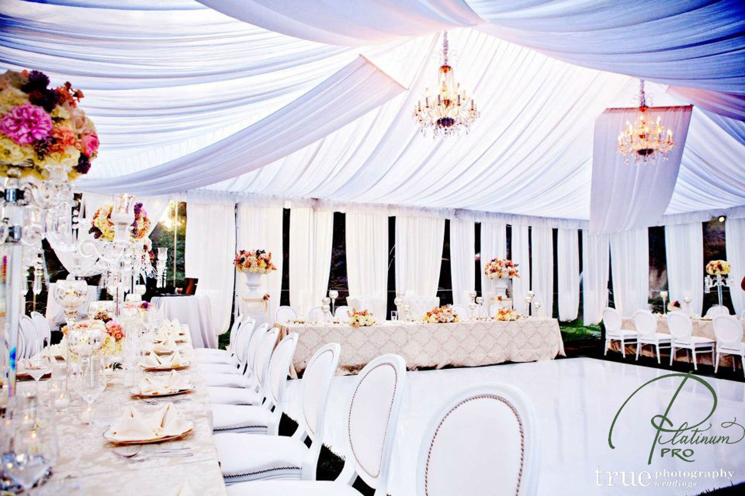 Custom White Dance Floor Wedding