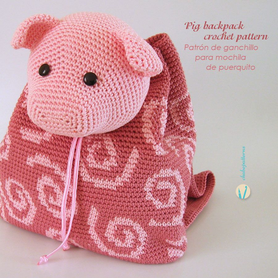 Bolsas | amigurumi | infantil | Pepa pig | croche | bolsas tejidas ...