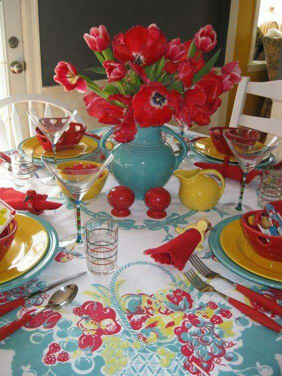 Vintage Fiestaware For Valentineu0027s Day In Turquoise! ~ Mary Walds Vintage  Place   Tabletop Time: My Favorite Valentine Vases
