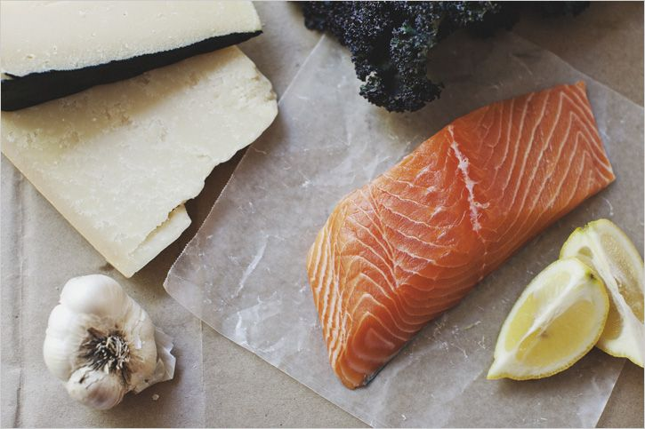 Lemon Kale Salad & Seared Salmon by sproutedkitchen: Oh yum! #Salmon #Kale #Lemon #sproutedkitchen