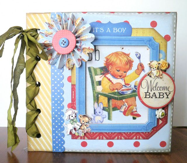 Two Crazy Crafters: Little Boy Blue Mini Album