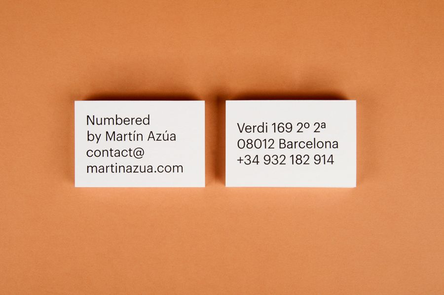 New Brand Identity for Numbered by Martín Azúa by P.A.R | Business ...