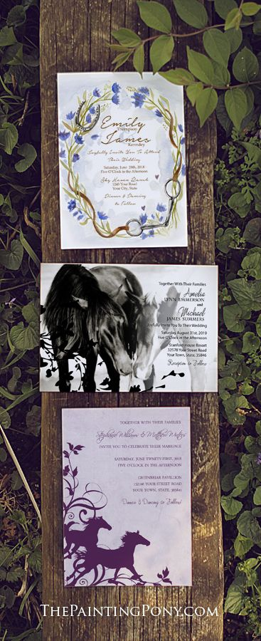 Equestrian Themed Wedding Invitations Collection Huge Selection Of