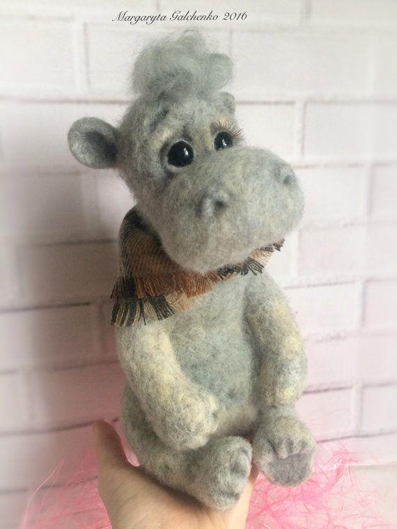 Needle Felted Hippopotamus