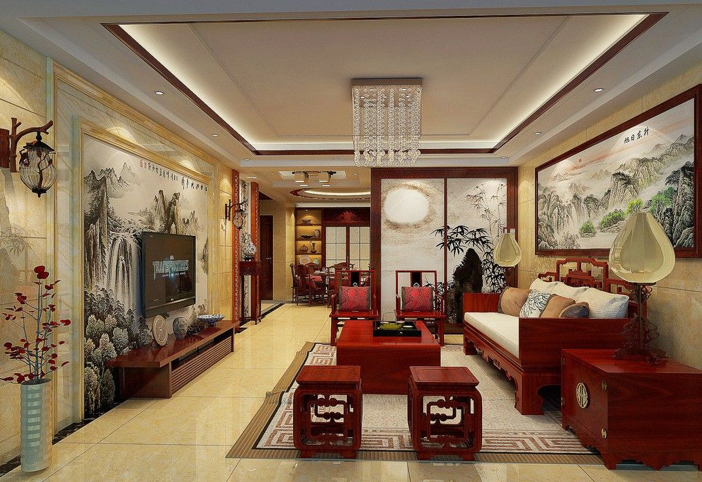 interior design living room chinese design style chinese interior design style - Chinese Living Room Design